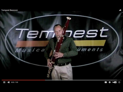 Tempest Musical Instruments - Bassoon Demonstration