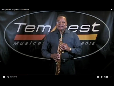 Tempest Musical Instruments - Soprano Sax Demonstration