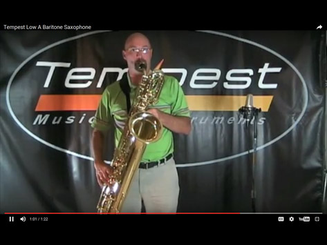 Tempest Musical Instruments - Sax Demonstration
