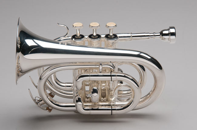 Silver Plated Pocket Trumpet - Tempest Musical Instruments