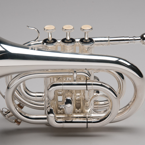 Silver Plated Pocket Trumpet - 1 - Tempest Musical Instruments