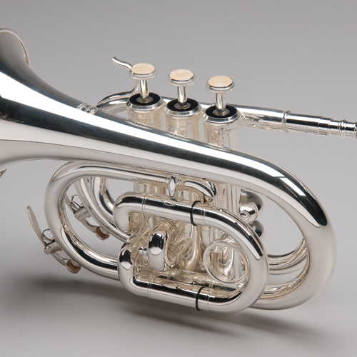 Silver Plated Pocket Trumpet - 2 - Tempest Musical Instruments
