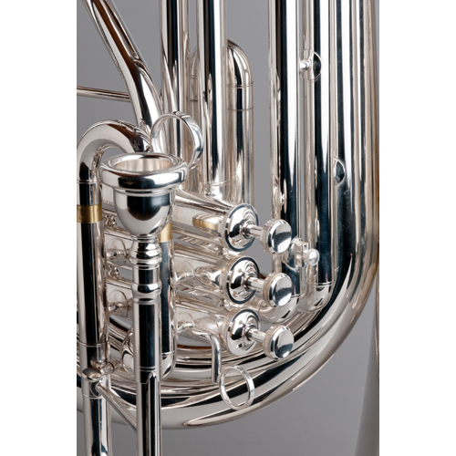 BBb Marching Tuba 4/4 - Silver - 2 - Tempest Musical Instruments