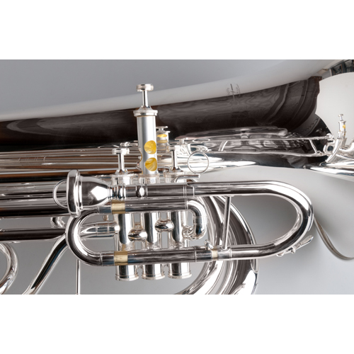 BBb Marching Tuba 4/4 - Silver - 3 - Tempest Musical Instruments