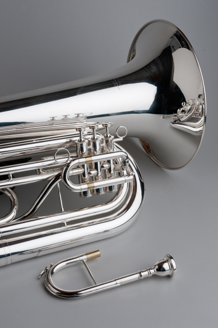 BBb Marching Tuba Standard - Silver - Tempest Musical Instruments