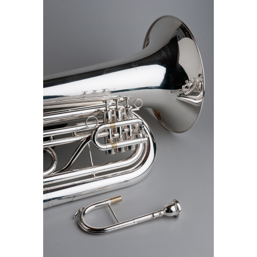 BBb Marching Tuba Standard - Silver - 1 - Tempest Musical Instruments