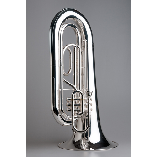 BBb Marching Tuba Standard - Silver - 4 - Tempest Musical Instruments